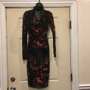 Jean Paul Gaultier Soleil Sheer Black Red Dress
